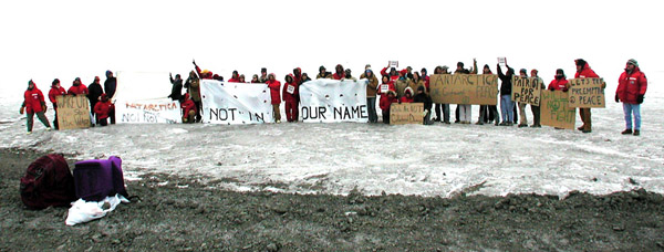 February 2003 anti-Iraq war demonstration in McMurdo, Antarctica